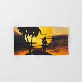 Romantic Vegeta Bulma in Sunset Hand & Bath Towel