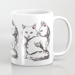 White Maine Coons Cats Coffee Mug