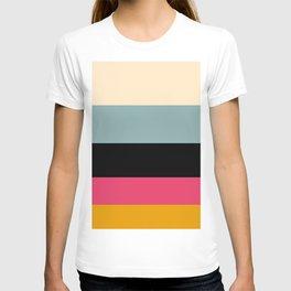 Walking On A Dream Vintage Color Palette Colorful Color Block Pattern T-shirt