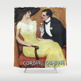 Vintage 1910 Cordial Campari Italian Alcoholic Drink Advertisement by Gian Emilio Shower Curtain