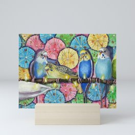 Parakeet Theater Mini Art Print