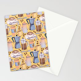 Coffee Love on Yellow Stationery Cards