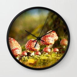 Beautiful but toxic - Fly agaric - Amanita - Autumn illustration - #society6 #buyart Wall Clock