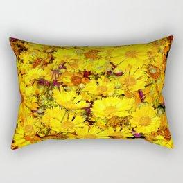 Rich Golden Yellow  Coreopsis Flowers Modern Art Rectangular Pillow