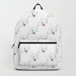 Geek whale watercolor Backpack