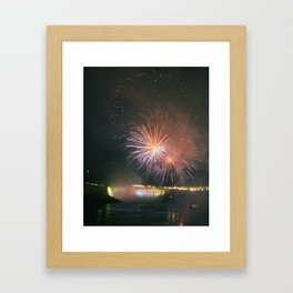 Fireworks over Falls Framed Art Print