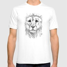 Gesture Lion White MEDIUM Mens Fitted Tee