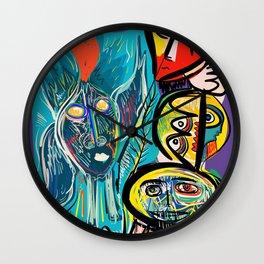 Red Fish and a Spirit of Love Street Art Graffiti Wall Clock