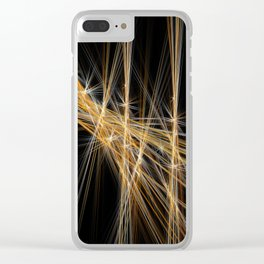 Firecracker | Geometric Line Abstract Clear iPhone Case
