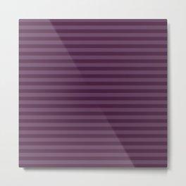 Autumn Time - purple stripes Metal Print
