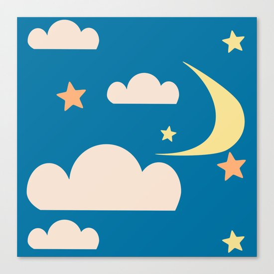 Moon light blue Canvas Print