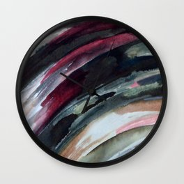 Abstract Ink Smear  Wall Clock