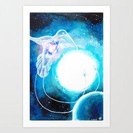 Celestial hummingbird Art Print