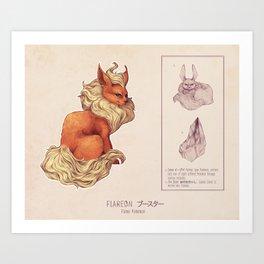 Flareon Art Print