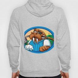 Cartoon walrus golf club Hoody