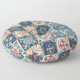 Moroccan Tiles Pattern Multicolor Floor Pillow