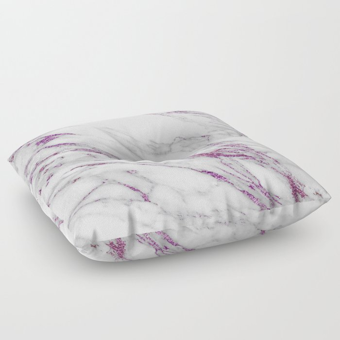 Gray and Ultra Violet Marble Agate Floor Pillow