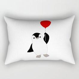 Penguin with a Red Balloon Rectangular Pillow