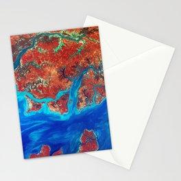 Guinea-Bissau Fractal Coastline Stationery Cards