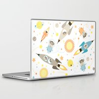 planet of the apes Laptop & iPad Skins featuring Apes in space by Heleen van Buul