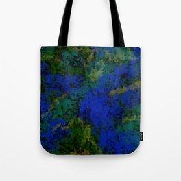 Peacock crystal mosaic Tote Bag
