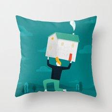 Rising House Prices Throw Pillow