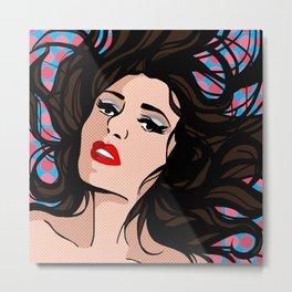 Sexy Pop Art Girl Metal Print