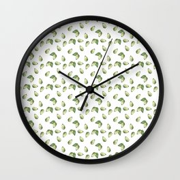 Watercolour Avocado Pattern Wall Clock