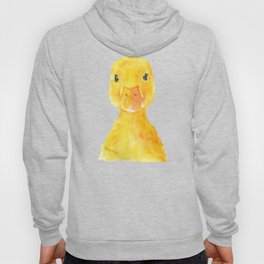 Duck Face Watercolor Painting Hoody