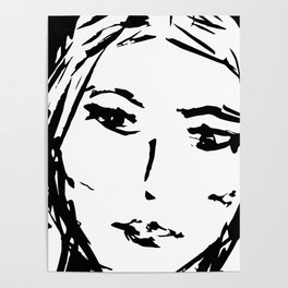 """Black&White Graphic """"That Look"""". Poster"""