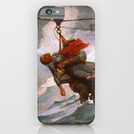 Winslow Homer1 - The Life Line - Digital Remastered Edition iPhone Case