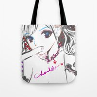mosaic Tote Bags featuring MOSAIC by Chandelina