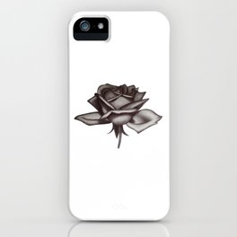 Black and White Rose in Ink iPhone Case