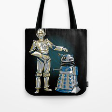 Cyber3PO and R2Dalek Tote Bag