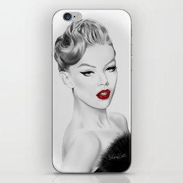 Vintage Fashion Illustration iPhone Skin