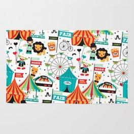 Circus animals - illustration kids print Rug