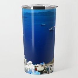 Santorini Caldera Travel Mug