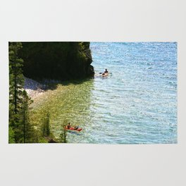 Lions Head Kayakers Rug