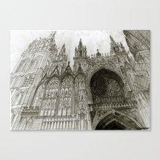 Rouen facade Canvas Print
