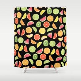 Night Fruit Salad Shower Curtain