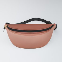 Two Tone Coral Ombre Pattern Fanny Pack