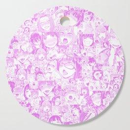 Pastel Ahegao Collage Cutting Board