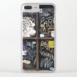 Fishtown Graffiti Street Clear iPhone Case