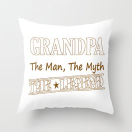 Grandpa The Legend Throw Pillow