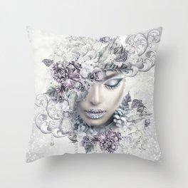 WINTER BLUES Throw Pillow