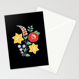 Hungarian placement print - black Stationery Cards