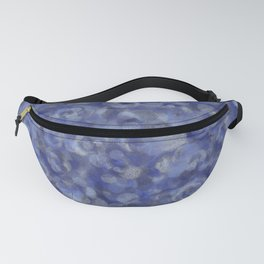 Slate Blue and Steel Silver Gray Unique Bubble Texture Fanny Pack