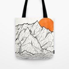 The orange sun Tote Bag