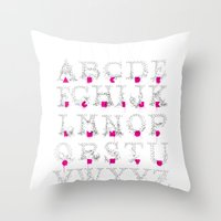 typo Throw Pillows featuring Node Typo by ErDavid