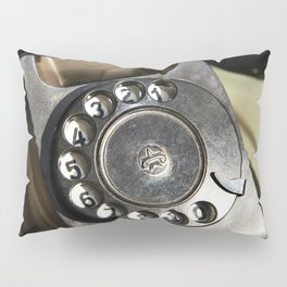 Retro rotary dial telephone Pillow Sham